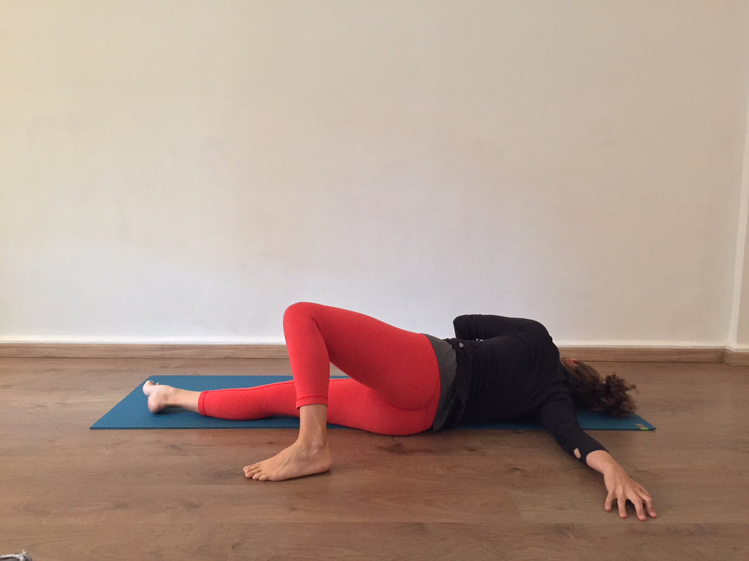 Side stretch yoga pose